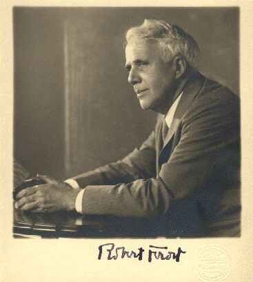 a snapshot of robert frost with his signature