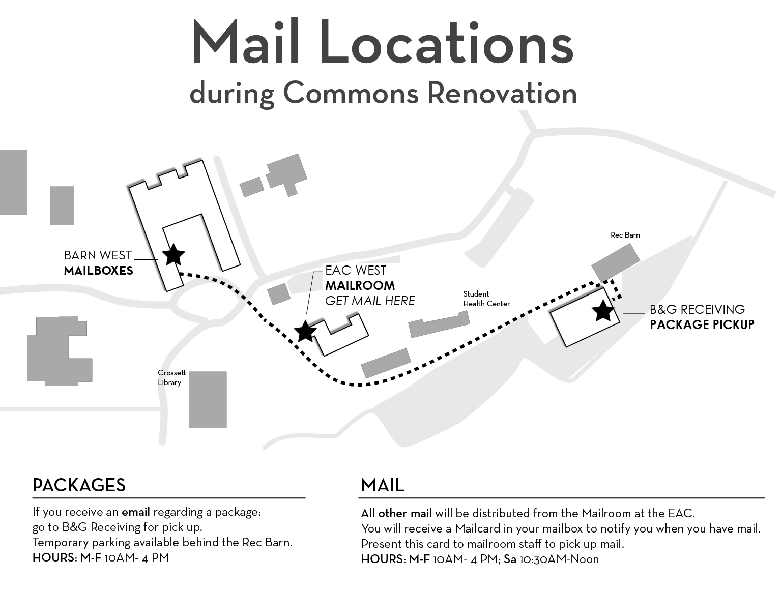 campus mail map