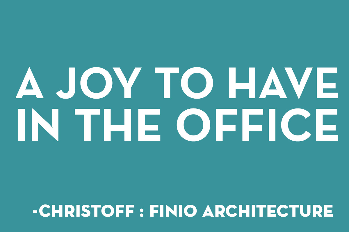 A joy to have in the office - christoff:finnio