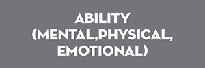 ability, mental, physical, emotional