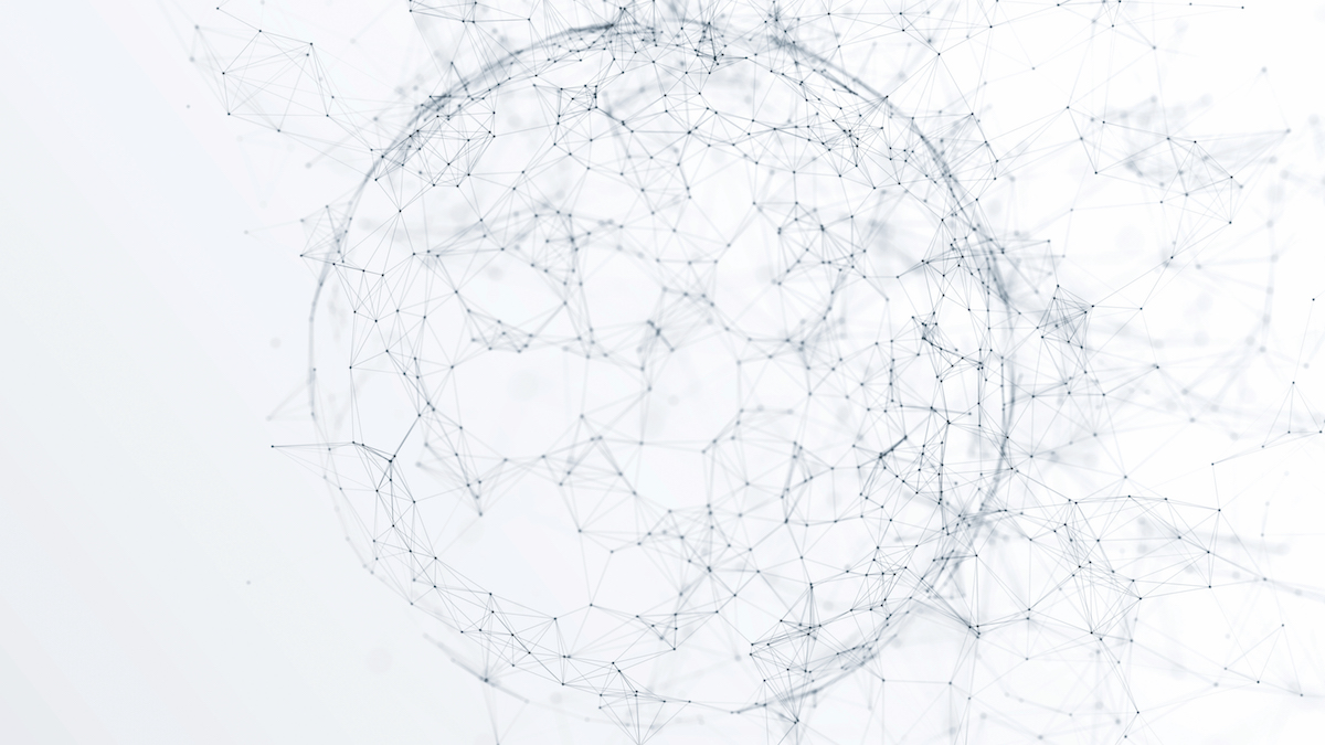 a connected network of dots creating a sphere