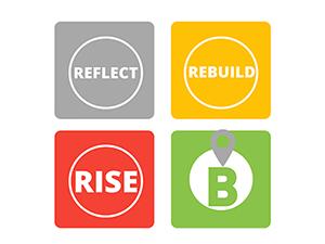 reflect rebuild rise logo