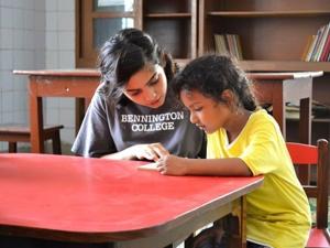 Maliha Ali leading her Project