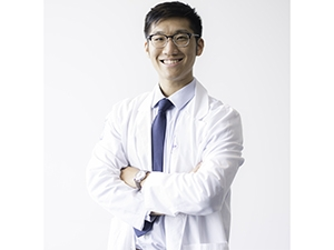 Image of Charles Dong in white coat