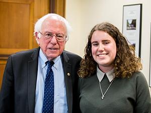 Senator Bernie Sanders and Elizabeth Fox