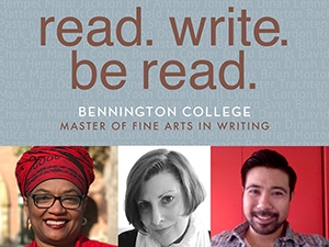 Writing Seminars logo and images of the three recipients