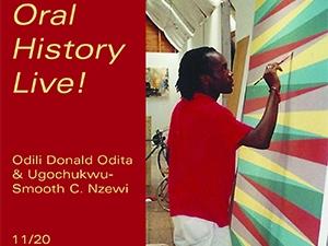 Image of Odili Donald Odita at work