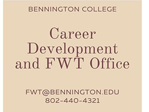 Text image of Career Development and FWT Office