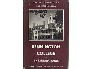 Bennington College: The Development of an Educational Idea cover