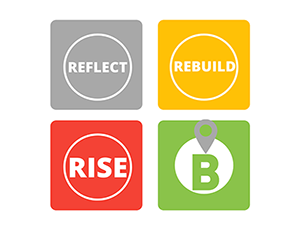 reflect rebuild rise logo