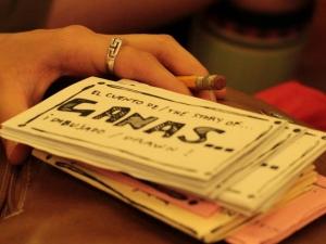 Stack of brochures for GANAS