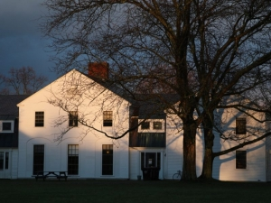 dusk view of canfield house