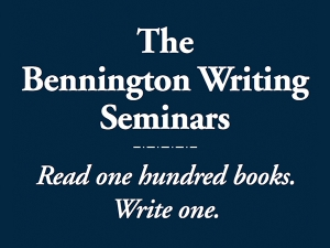 bennington writing seminars Jenny received her mfa in literature from the bennington college writing seminars her graduate thesis became her first volume of verse her second collection is almost complete jenny's (poetry) poem collection, unraveling at the name (copper canyon press), won a hayden carruth award and was a finalist for the.