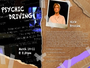 "Nick Brooke's show ""Psychic Driving"""