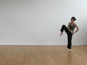 Dancer in dance studio