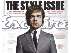 Peter Dinklage on the cover of Esquire magazine