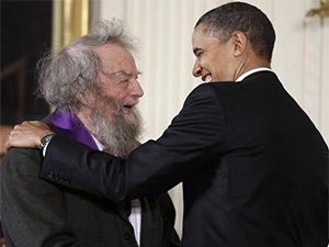 Donald Hall and President Barack Obama
