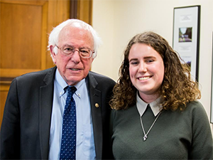 Senator Bernie Sanders and Elizabeth Fox