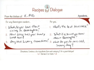 Recipe 4 dialogue