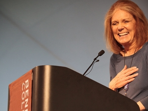 Image of Gloria Steinem at Commencement 2015