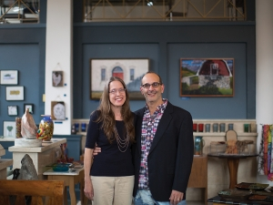 Image of Nina and Joel Lentzner '91 of Fiddlehead