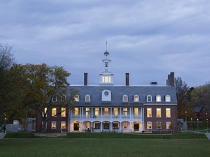 Image of Bennington College Commons at dusk