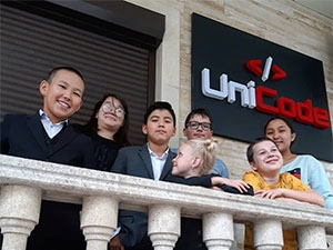 Photo of students at UniCode School