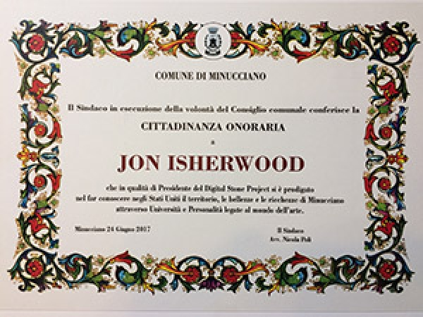 Image of the certificate