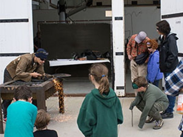 photo of metalworker demonstrating