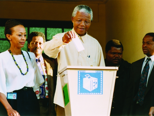 Behind the Struggle to Free South Africa article image of Nelson Mandela