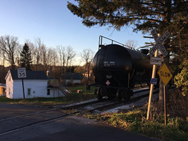 oil tankers parked on train tracks in north bennington