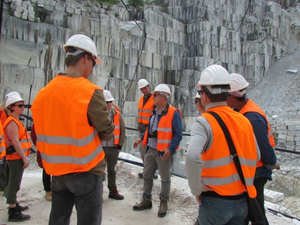 Isherwood at the marble quarry