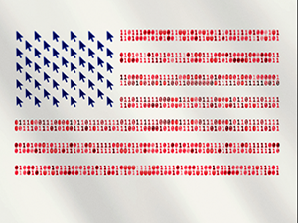 Image of binary American flag