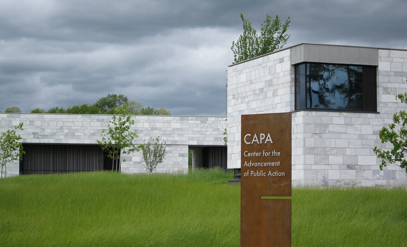 CAPA exterior and sign