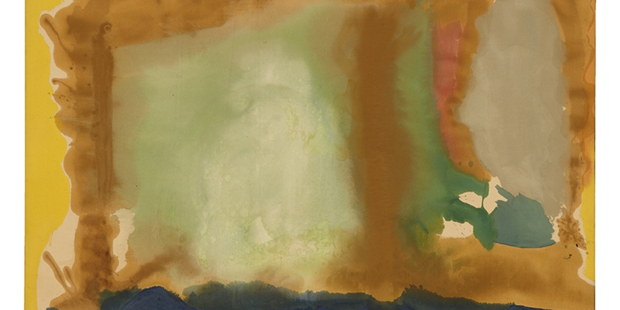 """As In Nature,"" Paintings by Helen Frankenthaler '49 at the Clark"