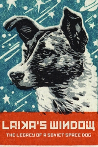 a drawing of a dog with stars in the background