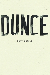 White cover that says Dunce in black letters