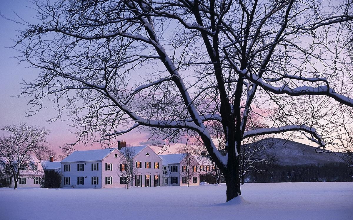 Bennington in the snow