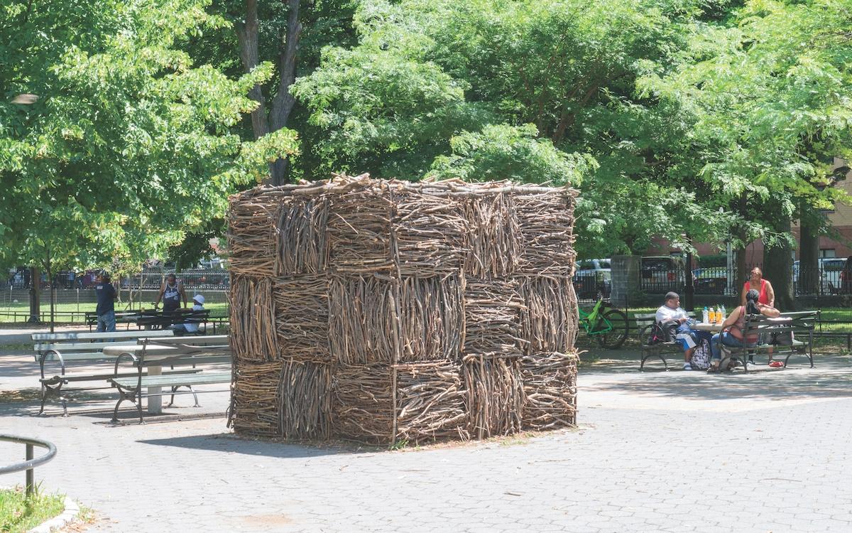outdoor cube installation