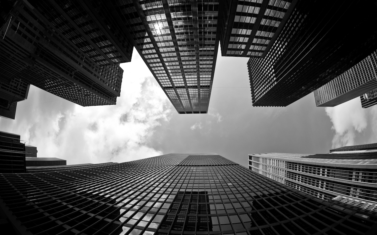 Buildings shot from ground