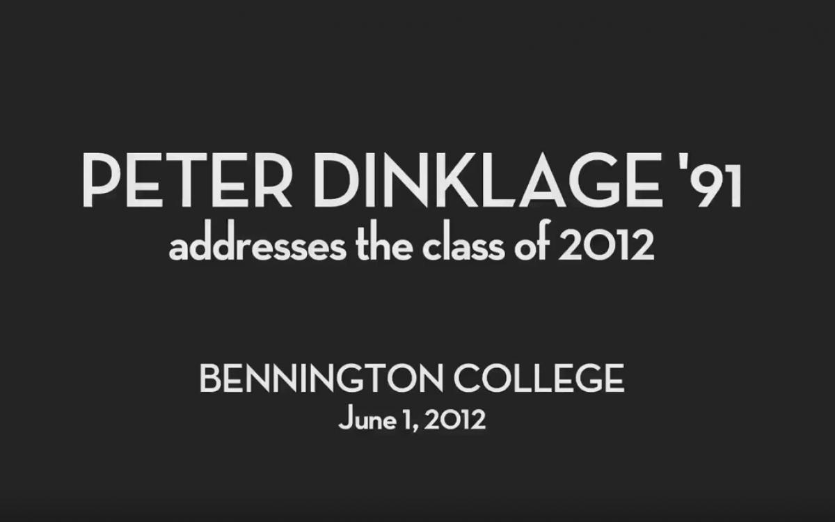 Peter Dinklage '91 Addresses Bennington College's Class of 2012