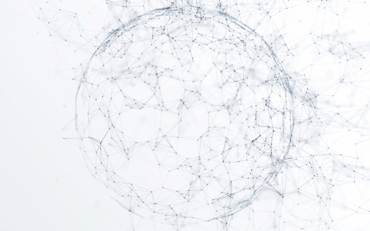 a connected network of dots
