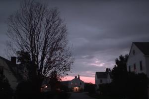 Sunset over Bennington Dorms