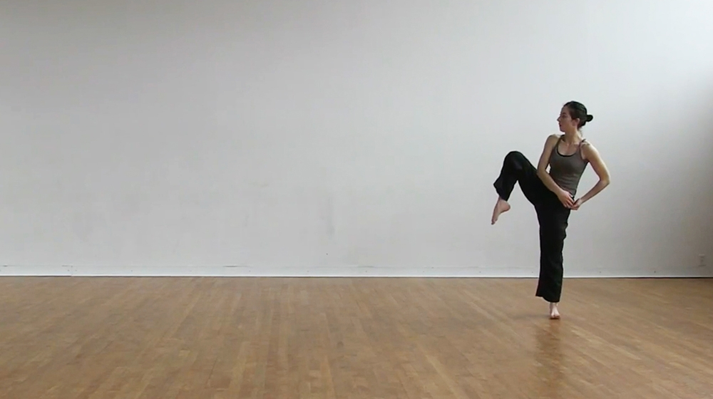 Dancer in dance studio
