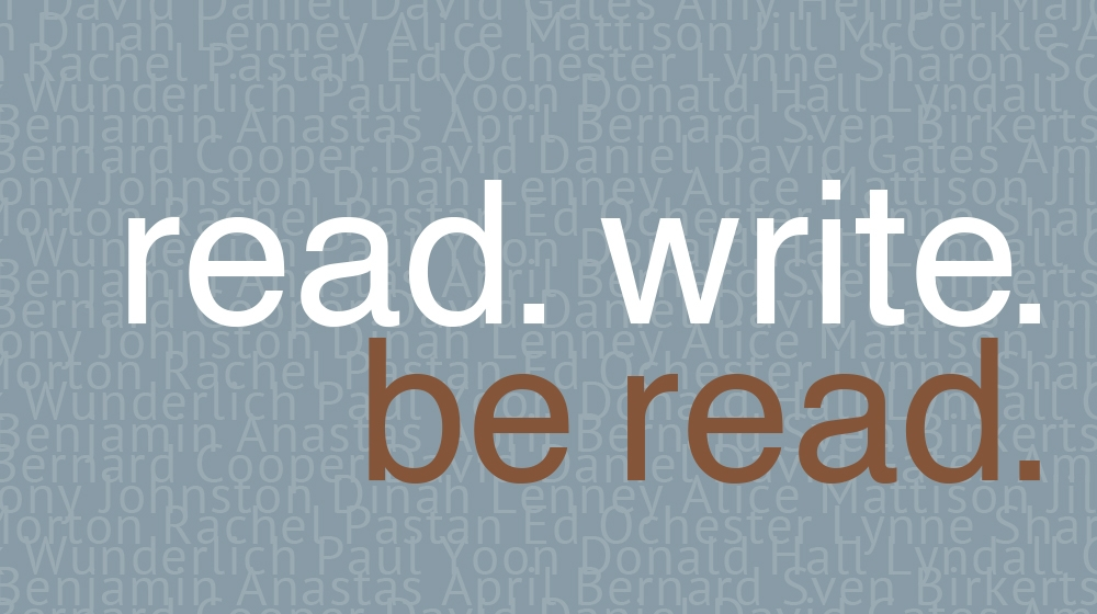 read. write. be read.