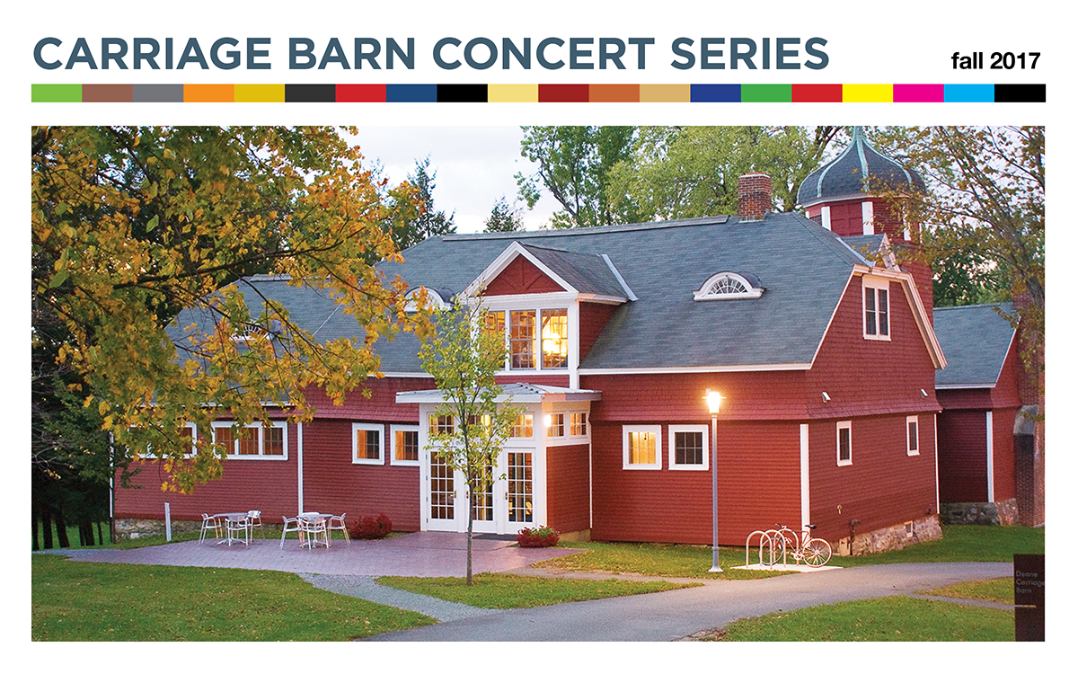Carriage Barn Concert Series–Fall 2017