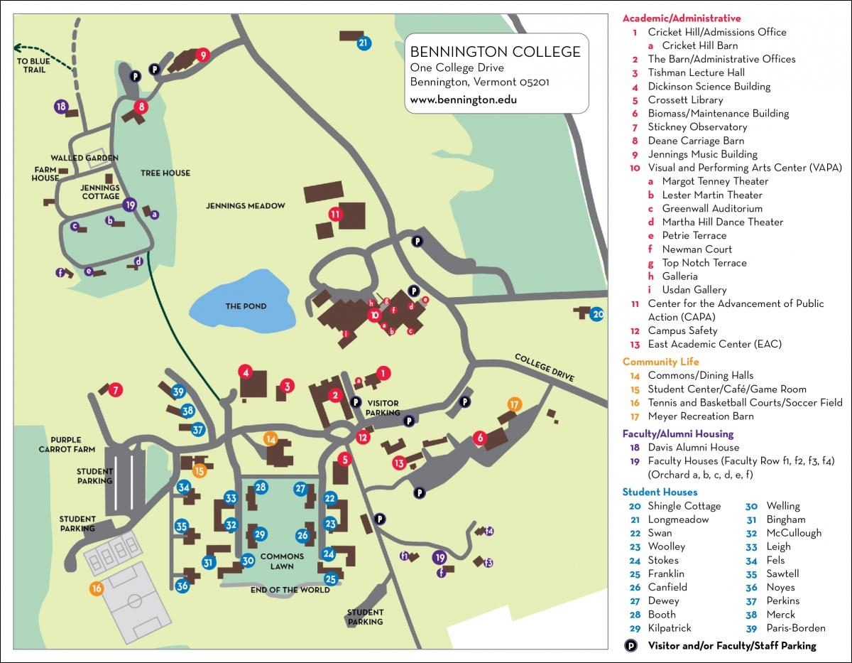 Princeton Campus Map Pdf.The Campus Bennington College