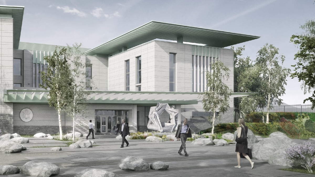 Rendering of Embassy installation site in Oslo