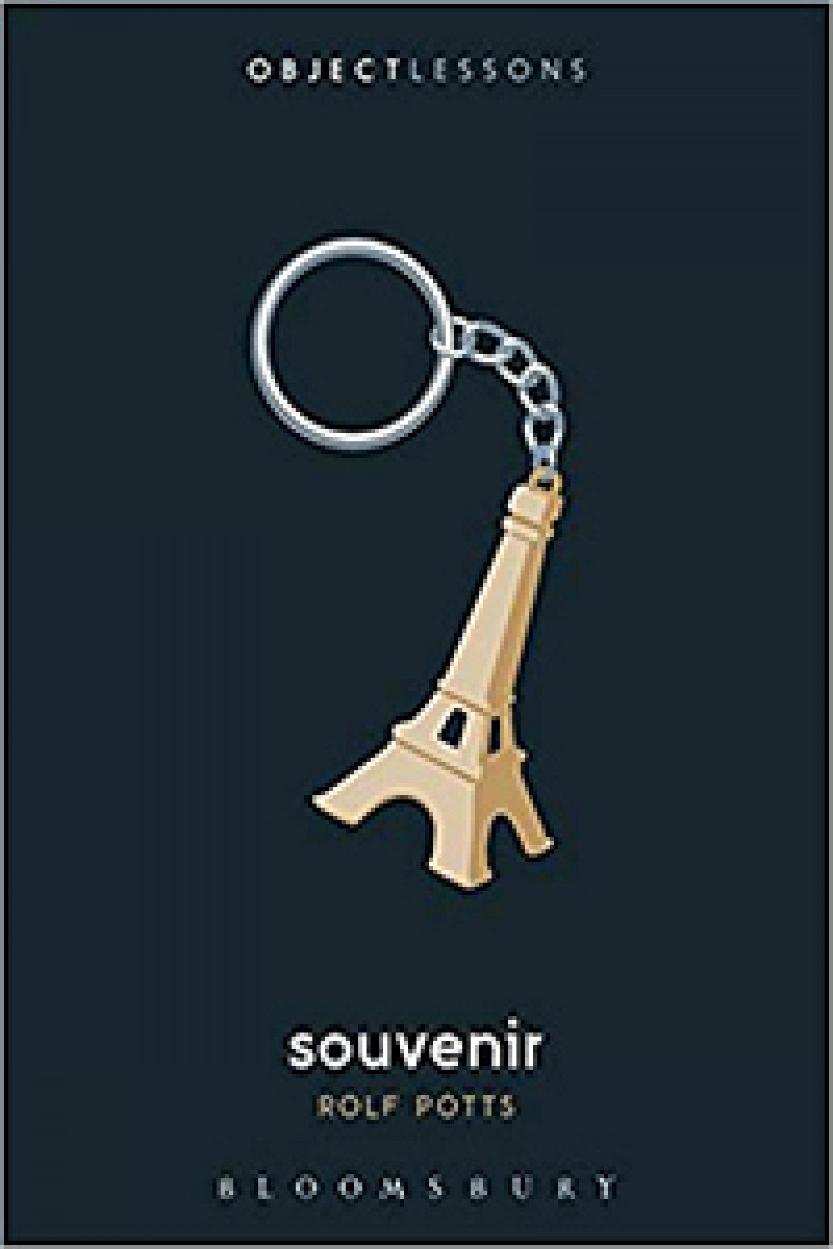 Eifle Tower keychain on book cover