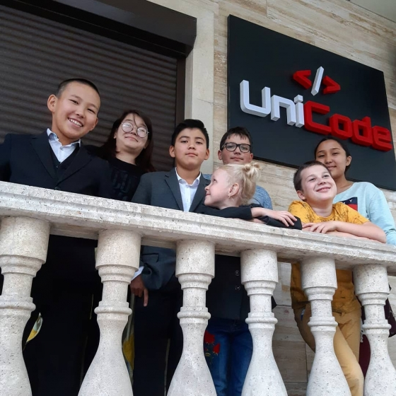 Students at Unicode school